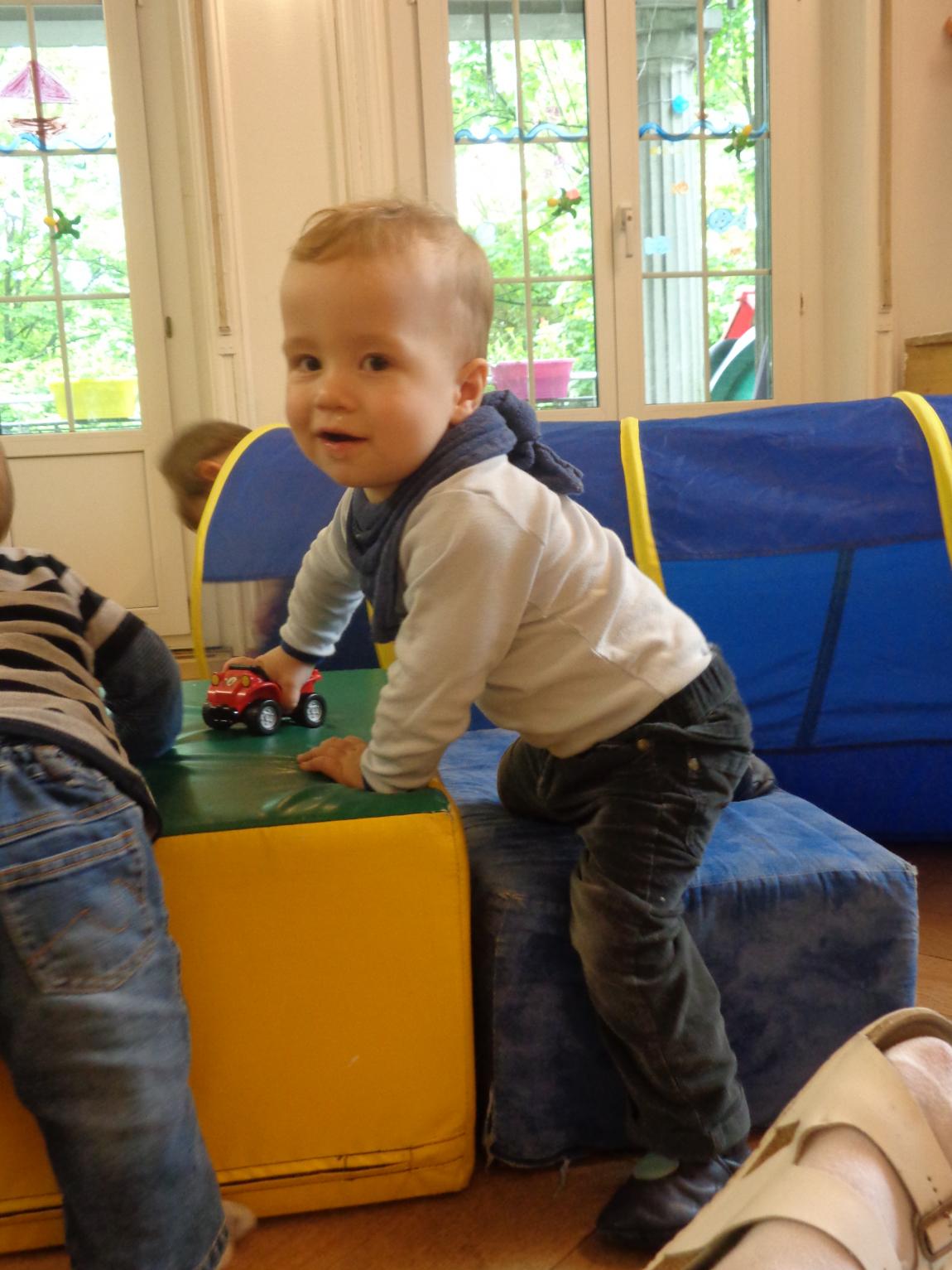 Thema «Bewegung» auf der Kleinstkindgruppe